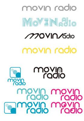 movin radioのロゴ試作